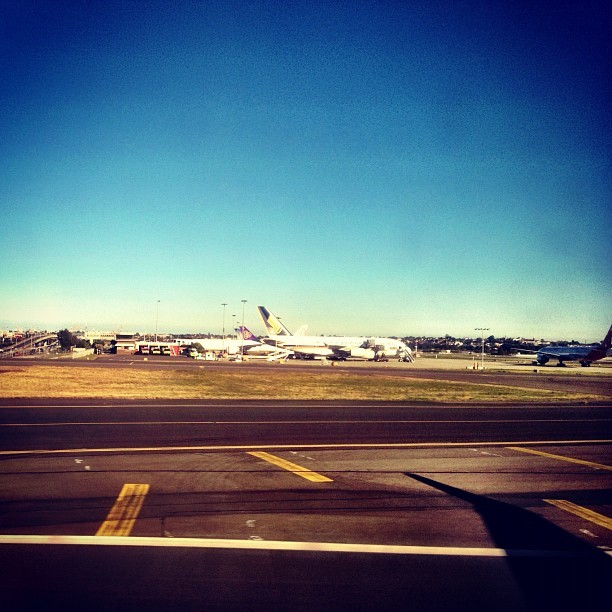 #Airport #Sydney - #flight #out #awesome #iPhone #high #city #air #pacific #Fiji #Australia #Aussie #land #airplane #next instagram #far #travel #picture #pic #colors #colour #ocean  (Taken with Instagram)