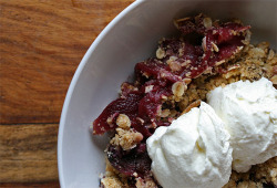 Apple & Blueberry Crumble by poppalina on Flickr.