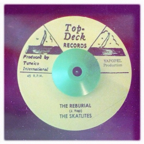 even bigger piece of #vinyl #45 Top Deck #jamaica #ska from the skatalites #tump #theurbanmusicologyproject #themusicologist  (Taken with Instagram)