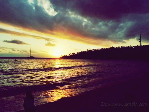 Beautiful Sunset in Senggigi Beach,Lombok-Indonesia♥