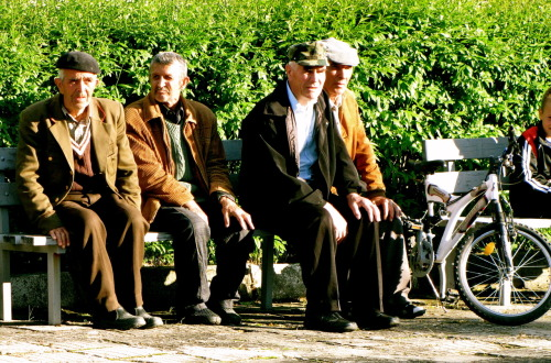 Old men in Bulgaria.