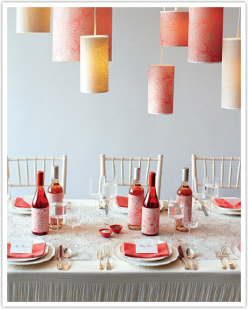 Cute and colorful table setting