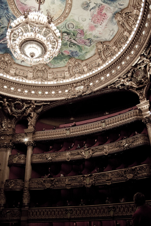 The Opéra Garnier in Paris. Ceiling mural by Marc Chagall.