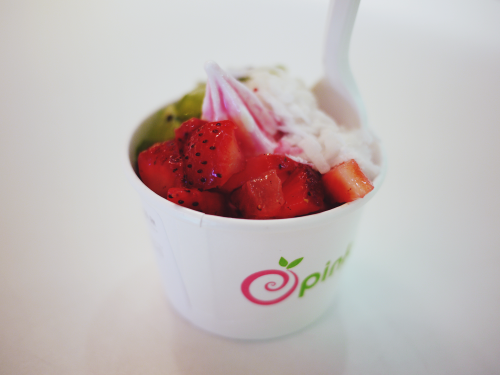 Pinkberry So happy they started selling these in a smaller-than-small size! It's the perfect snack.