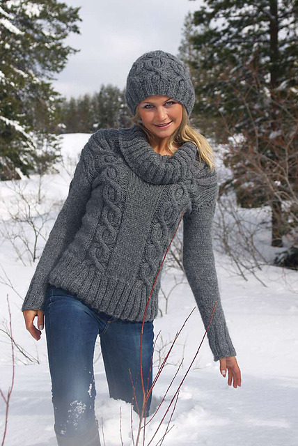 Today on Crafty Crafty: Knitting pattern: Easy Cables Scandivian sweater http://bit.ly/OxvTMu by Lauren O'Farrell