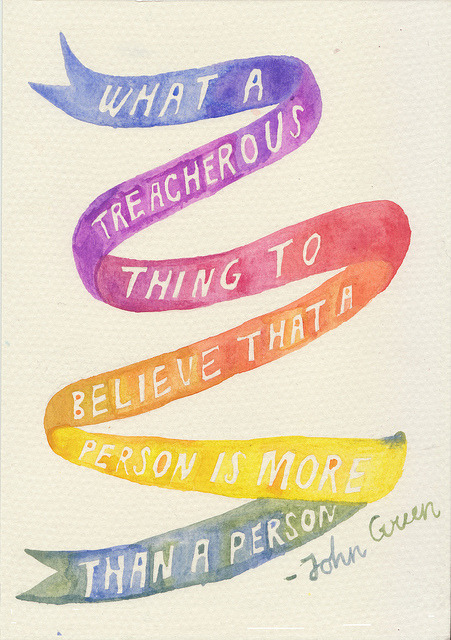 sayitwith-watercolor:  what a treacherous thing to believe that a person is more than a person  untitled by rocketrictic on Flickr.