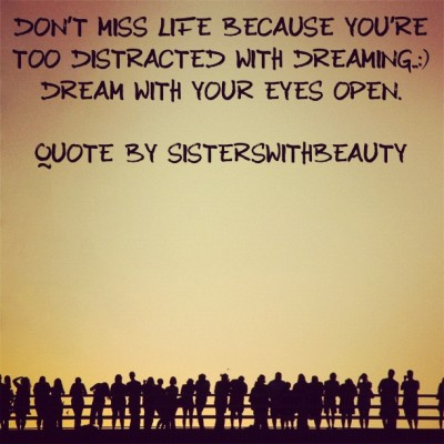 Don't miss it dreaming..I dream with my eyes wide OPEN..SistersWithBeauty #naturalhair #natural #sisterswithbeauty #mytruth #mydreams #godsgrace  (Taken with Instagram)