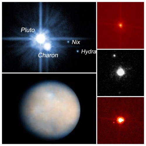 The five dwarf planets: Pluto, Makemake, Haumea, Eris, Ceres.  Blurry photos from Earth and near-Earth show these cold and distant objects as mysterious places. Spacecraft are en route to fly past Pluto and Ceres. What will we find there?