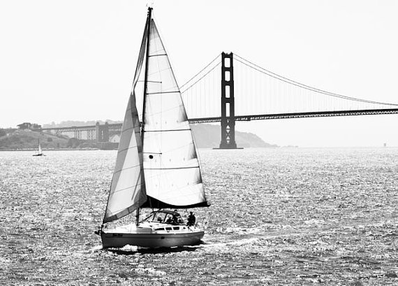 """Sailboat in the bay"" by Rebecca Plotnick"