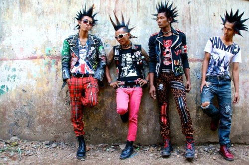 "themindislimitless:   The punk band Rebel Riot: The band was founded in 2007 during the period when the military junta cracked down on the so-called ""Saffron Revolution"" launched by Buddhist monks. Thousands of demonstrators were arrested then, and soldiers were ordered to fire upon their own people. People in Burma are still deeply shocked by these events.  In Burma, punk is far more than just a superficial copy of its Western counterpart. Here, what is probably the most rebellious of all subcultures in the Southeast Asian country is going up against one of the world's most authoritarian regimes. Punk gives young Burmese a chance to symbolically spit in the face of the hated government, which took power in 2010 in the wake of what was widely considered a fraudulent election. Although the government has shown initial signs of greater open-mindedness, which included the release of political prisoners in recent months, Burma is still far from a state that embraces the rule of law.  From the article Burma's Punk Scene Fights Repression Underground."