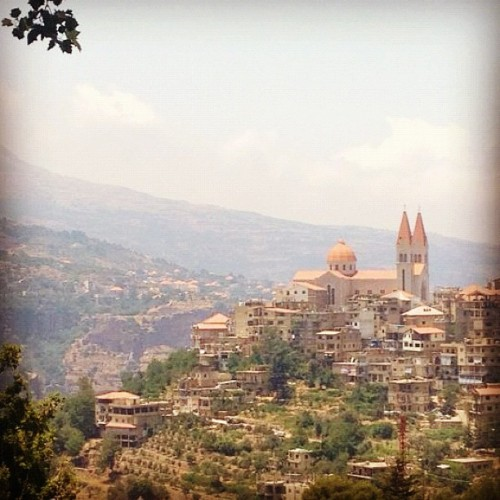 Bishari, Lebanon. #lebanon #beautiful #church (Taken with Instagram)