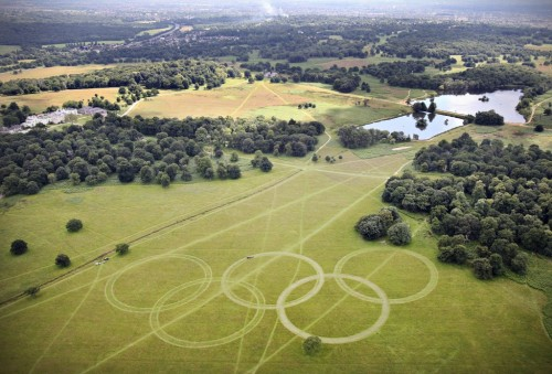 Olympic rings from the air!