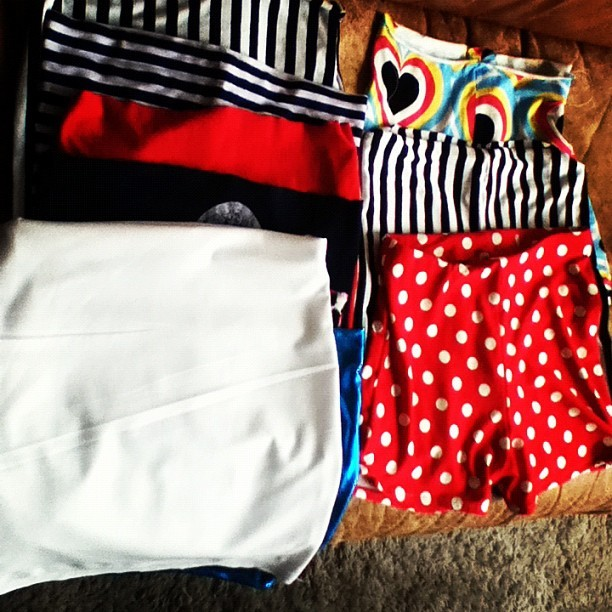#handmade booty #shorts and #skirts by me ^_^ almost ready to shoot ! (Taken with Instagram)