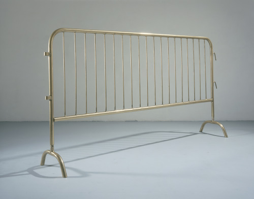 contemporaryobsessions:  Cerith Wyn Evans.  Untitled (Gold-plated barrier), 1998 Plated steel 122 x 259 cm (48.03 x 101.97 in). Yvon lambert Gallery