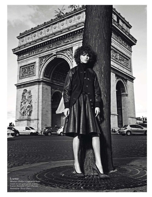 Vogue Paris August 2012 'Paris Mon Amour' - Aymeline Valade, Isabeli Fontana, Arizona Muse, Suvi Koponen, Doutzen Kroes, Kati Nescher and Anais Mali