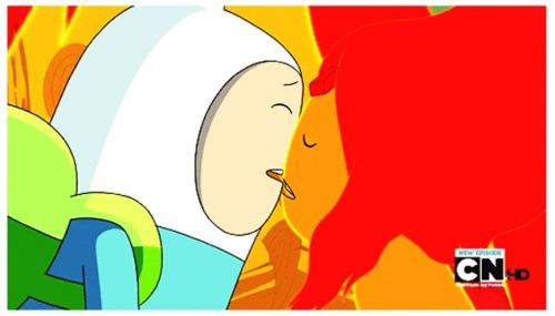 Flame Princess And Finn Kiss
