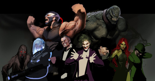 BATMAN FOES by Stjepan Sejic Artist of Witchblade and Artifacts - http://nebezial.deviantart.com/gallery/