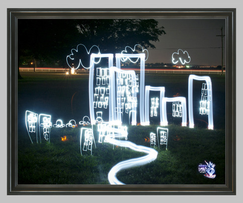 "Framed Metallic Photo Print (16x20"") by The Graffiti Light Project - $145.00 The Graffiti Light Project's ""City of Light"" Photography by Chris Look Framed 16x20"" Metallic Gloss Print - Found on Storenvy"