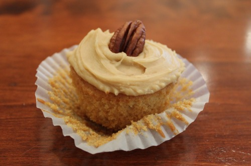 Caramel Cupcakes with Butterscotch Frosting Recipe here: http://www.finecooking.com/recipes/caramel-cupcakes.aspx