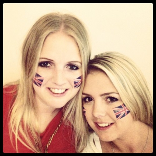 Getting ready to support Team GB!  (Taken with Instagram)