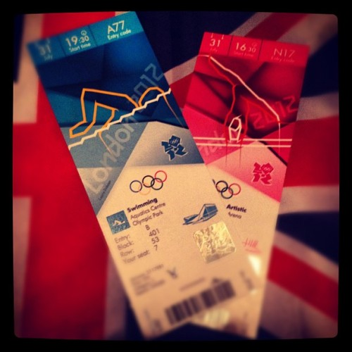 Swimming and Gymnastics tickets. Buzzing! (Taken with Instagram)