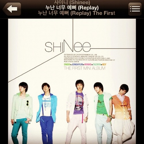 "Day 7: A k-pop song that makes you cry. ""Nunan neomu yeppeo (Replay)"" by SHINee. 누난 너무 예뻐, girl you are really pretty. It's made me cry and calmed me down on terms of how I feel. The title just helps more with who I am and to remind ones self of inner and outer beauty. It doesn't matter what you are, it's who you are. :3 #shinee #day #cry #meme #onew #jonghyun #key #minho #taemin #replay #샤이니 #온유 #종현 #키 #민호 #태민 #누난너무예뻐 #girl #youarereally #pretty #kpop  (Taken with Instagram)"