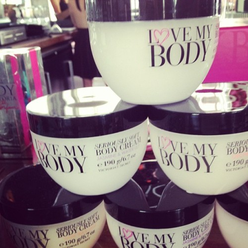 officialstyledotcom:  I love my body is the new body line by @victoriassecret. Smells and feels good. ML (Taken with Instagram)