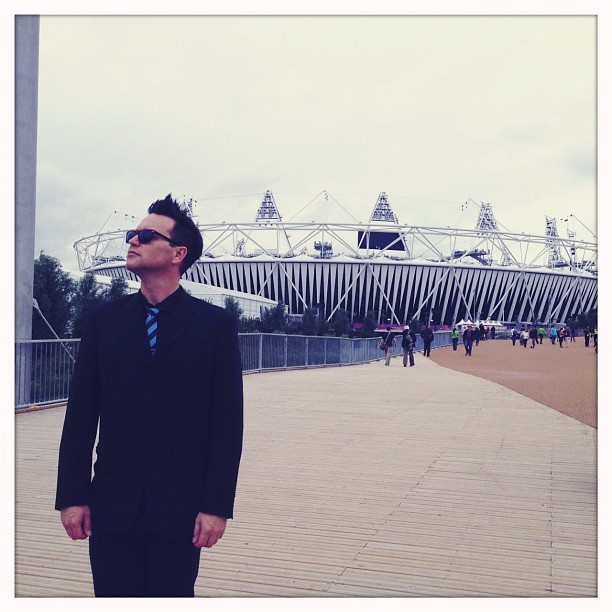 markhoppus:  I am going to watch the SHIT out of the Olympics. (Taken with Instagram at London 2012 Aquatics Centre)