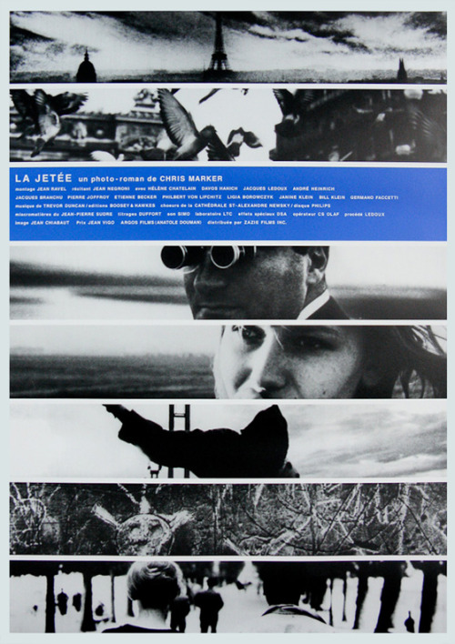 movieposteroftheday:  Japanese poster for LA JETÉE (Chris Marker, France, 1962) Designer: unknown Poster source: Film on Paper R.I.P. Chris Marker (1921-2012)
