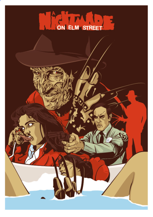 fuckyeahmovieposters:  A Nightmare on Elm Street by Mark Reihill