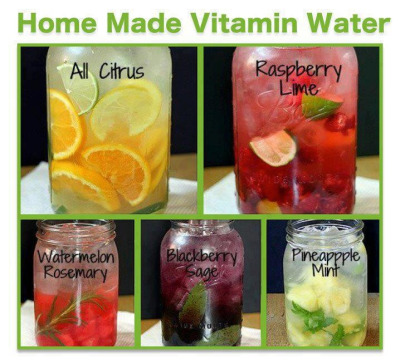 Putting this one my to do list! Looks yummy!  No chemicals. No additives. Just good old fashioned fruit & water refreshment! Leave your concoction to sit overnight and strain it as you pour to avoid the floaties! Take it to go by prepping a smaller amount in a water bottle. :)
