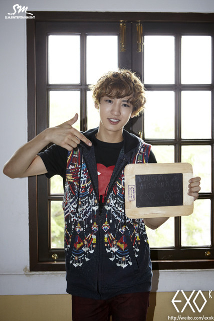 EXO'S First Promotion in Thailand CHANYEOL cr: exo-k's weibo