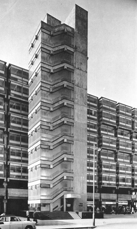 fuckyeahbrutalism:  Eros House, Catford, London, 1960-63 (Owen Luder Partnership)