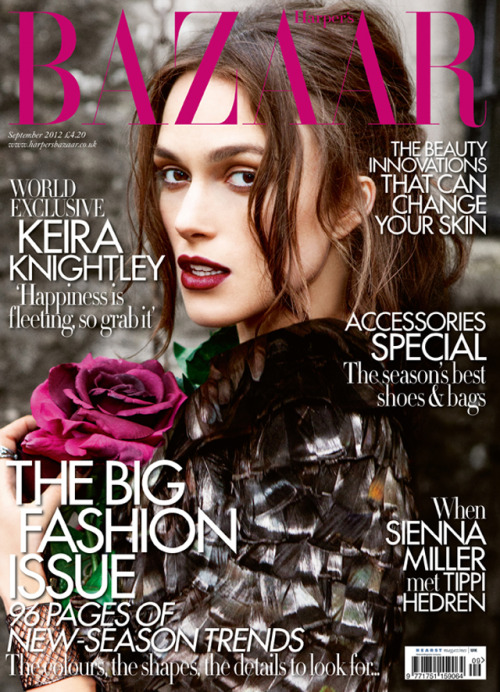 thesimplyluxuriouslife:  Kiera Knightley - Harper's Bazaar UK September 2012