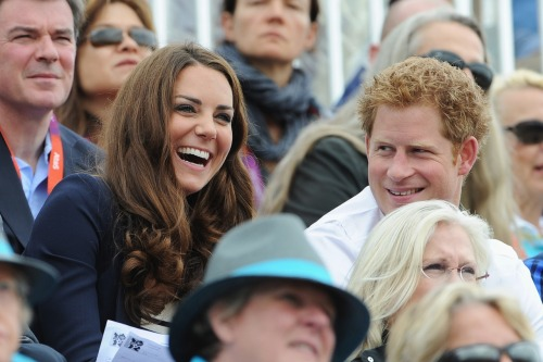 gettyimages:  The Duchess: Catherine, Duchess of Cambridge and Prince Harry look on during the Show Jumping Eventing Equestrian on Day 4 of the London 2012 Olympic Games at Greenwich Park on July 31, 2012 in London, England. Photo by: Pascal Le Segretain/Getty Images
