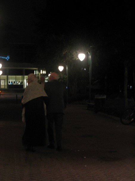"Jacksonville, Florida. 2007.I saw this couple walking in the park together. They were inseparable. Reminds me of the love stories in ""When Harry Met Sally"". However, my friend had to ruin the mood and said ""Oh, they probably just met yesterday."""