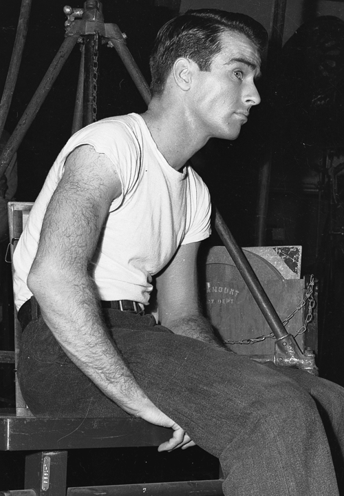 orsons:  Montgomery Clift on the set of A Place in the Sun (1951)