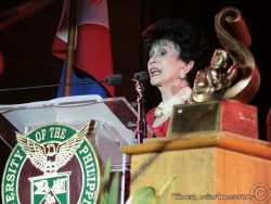 Wearing a smile and her advocacy's color, actress and host Rosa Rosal received the University of the Philippines College of Mass Communications' Gawad Plaridel award for 2012 for her use of television in public service. Continue reading here