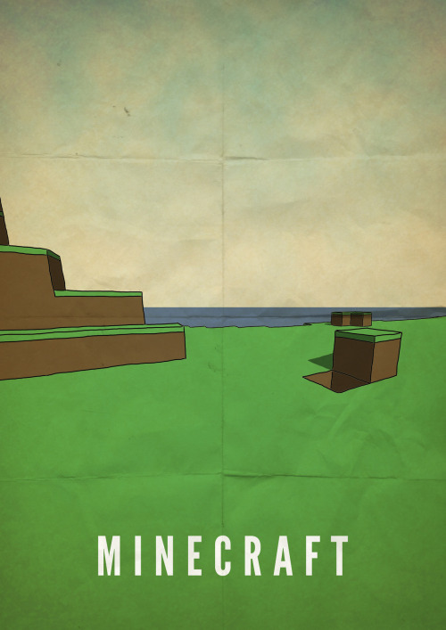 otlgaming:  MADE A MINIMAL MINECRAFT POSTER via r/Minecraft on Reddit) (via theawkwardgamer)