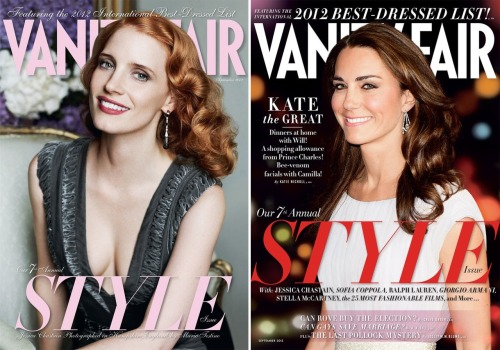 The V.F. September Style Issue has arrived! And it features two, count 'em, two beautiful cover stars who topped this year's International Best Dressed List: Jessica Chastain and Kate Middleton.