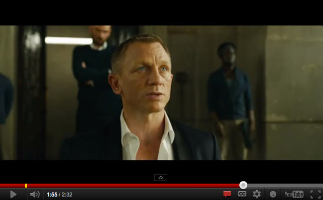"Bond lovers should rejoice with release of the full domestic trailer (they put out a short teaser a while back) of ""Skyfall,"" the latest featuring Daniel Craig and a very tortured Judi Dench as M and a very torturing Javier Bardem as the bad guy.  Looks pretty good, as you might expect with the revived franchise and its crack cast and crew. What do you think? Looking forward to it? Don't really care about Bond? Love the classics and this doesn't look like one of them?"