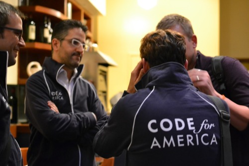 jedsundwall:  Code for America has a posse. Lee, Chris, and I had a great first day at the Code for America Accelerator. I'm very flattered that Measured Voice is included among the other passionate and extremely smart entrepreneurs participating in the program. We spent the day getting to know each other and learning more about what the current class of Code for America fellows have been working on. My takeaway: a lot of people are working very hard to create real value for society through the Internet. It's great to be a part of this group.