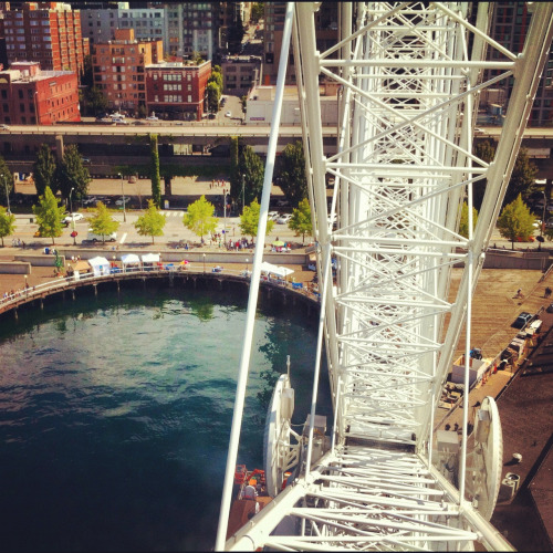 Shot from the top of the Great Wheel. #Seattle