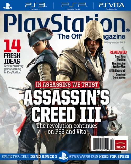 (via Assassin's Creed III Takes Over the Front Page of the PlayStation Magazine)