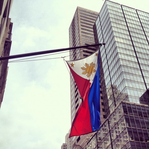 We're here! (Taken with Instagram at Consulate General Of The Philippines)