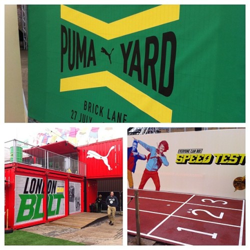 Not long until The @PUMA Yard is in full swing. Can you beat bolt..? #puma #theyard #bolt #footasylum (Taken with Instagram)