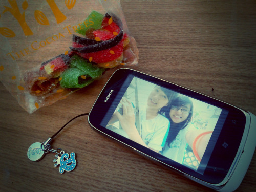 "Thanks a lot. For the candy and phone-chain (!?!!?).="")"