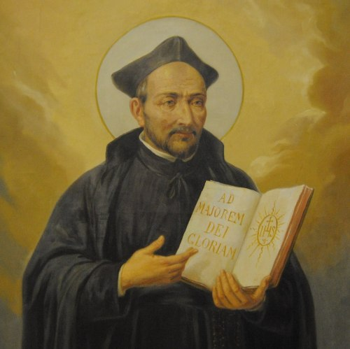 St. Ignatius of Loyola (1491-1556) After being injured in battle, Ignatius made a vow of chastity and lived in a cave for a year before making a pilgrimage to Rome and the Holy Land. Upon his return, his meditations led to the creation of the Society of Jesus, now known as the Jesuits. In his later years, he suffered from poor health and blindness.