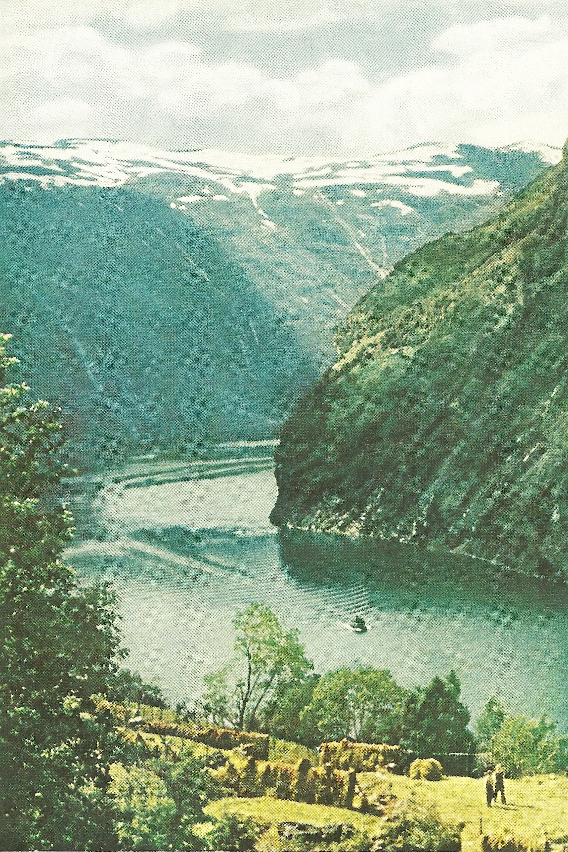 vintagenatgeographic:  Geiranger Fjord, Norway National Geographic | January 1957