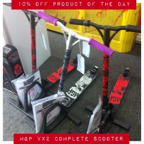 10% off Product of the day (Sat=Scoot): MGP COMPLETE SCOOTERS August 4th, 2012, only.  Regular Price is $199.99, You save $19.99
